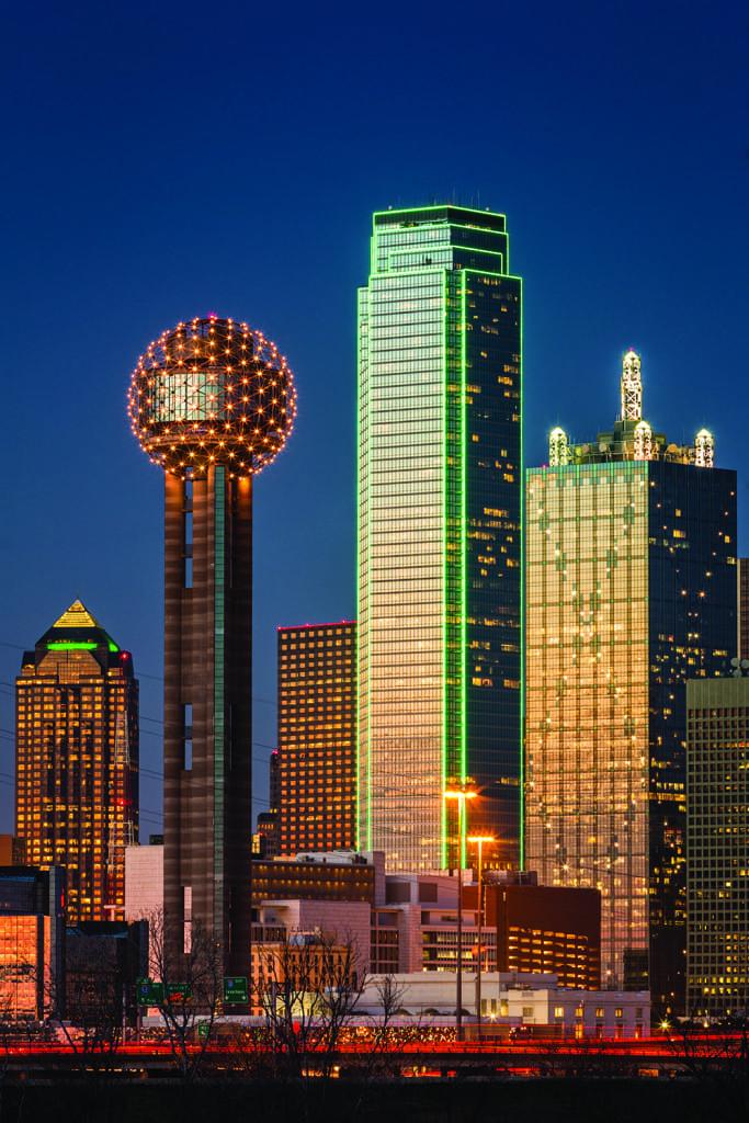 Dallas skyline.